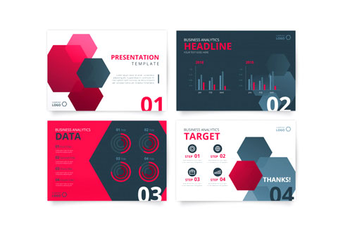 Unique Presentations in graphics design company